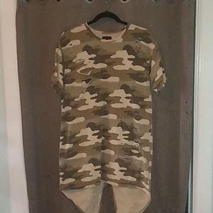Army fatigue Duck tail Tee Shirt